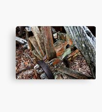Decaying Wagon Wheel -  Hill End NSW Canvas Print