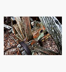 Decaying Wagon Wheel -  Hill End NSW Photographic Print
