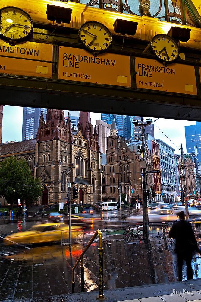 Meet me under the Clocks            Melbourne by Jim Key