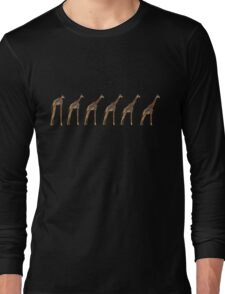 Giraffe Evolution Long Sleeve T-Shirt