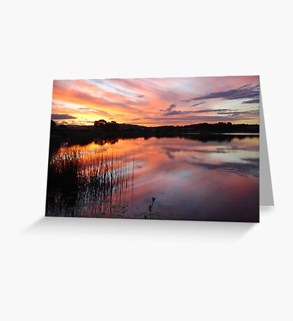 End of Day on Lake Kimberley Greeting Card
