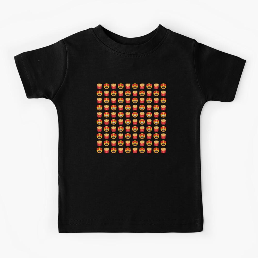 Love Pommes frites Emoji JoyPixels Funny French Fries Kids T-Shirt