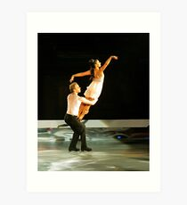 ice skating (dan and hayley) Art Print