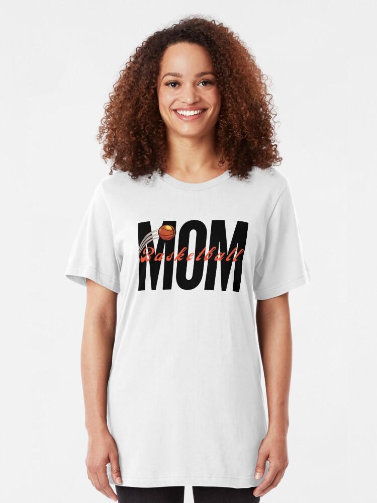 Alternate view of Basketball Mom, sports mom Slim Fit T-Shirt