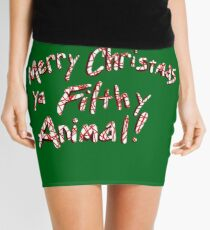Merry Christmas ya Filthy Animal! Mini Skirt