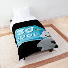 So Cool Unicorn Emoji JoyPixels You're so Cool Comforter