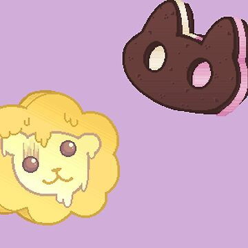 Cookie cat and lion lickers by StickyHunter