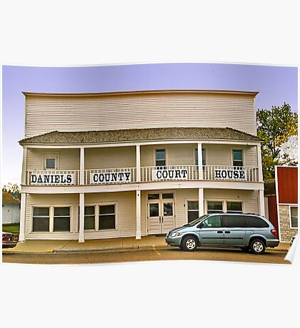 Daniels County (Montana) Court House Poster
