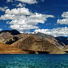 Evening colors - Pangong Lake by CoSurvivor