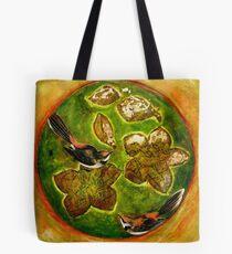 Green Collagraph 1 Tote Bag
