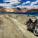 Heading for the Blue - Pangong Lake by CoSurvivor