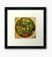 Green Collagraph 2 Framed Print