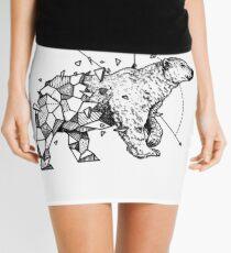 Geometric Ice Bear - Tattoo Design Mini Skirt