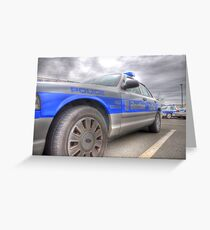 Boston Police Cruiser Greeting Card