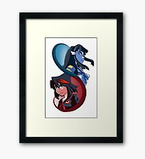 Kill la Kill - Red and Blue Oni Framed Print