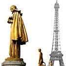 EIffel from Trocadero by Victor Pugatschew