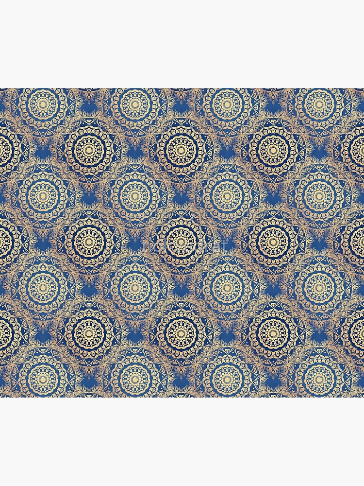 Gold Mandala for Spirituality and Charity Blue by tiokvadrat