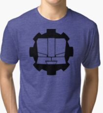 Heroic Gearo Emblem - Black Tri-blend T-Shirt