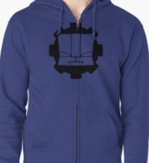 Heroic Gearo Emblem - Black Zipped Hoodie