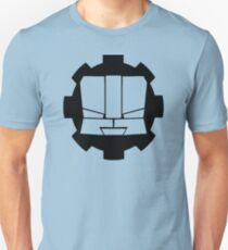 Heroic Gearo Emblem - Black Slim Fit T-Shirt