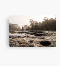 Whiskey River - Rapid Currents and Soft Fog Canvas Print