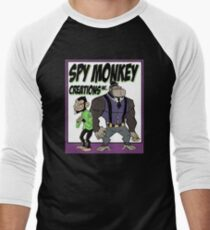 Spy Monkey Creations Inc Logo! Men's Baseball ¾ T-Shirt