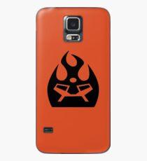 Lava Strike Force Emblem - Black Case/Skin for Samsung Galaxy