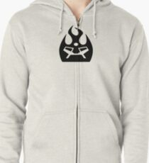 Lava Strike Force Emblem - Black Zipped Hoodie