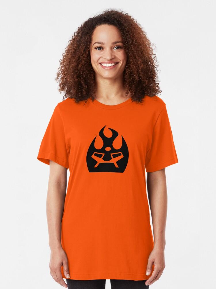 Alternate view of Lava Strike Force Emblem - Black Slim Fit T-Shirt