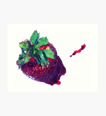 05-01-11:  Smashed Berry Art Print