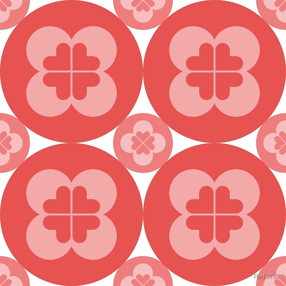 Geometric Pattern: Flower Circle: Red Light by * Red Wolf