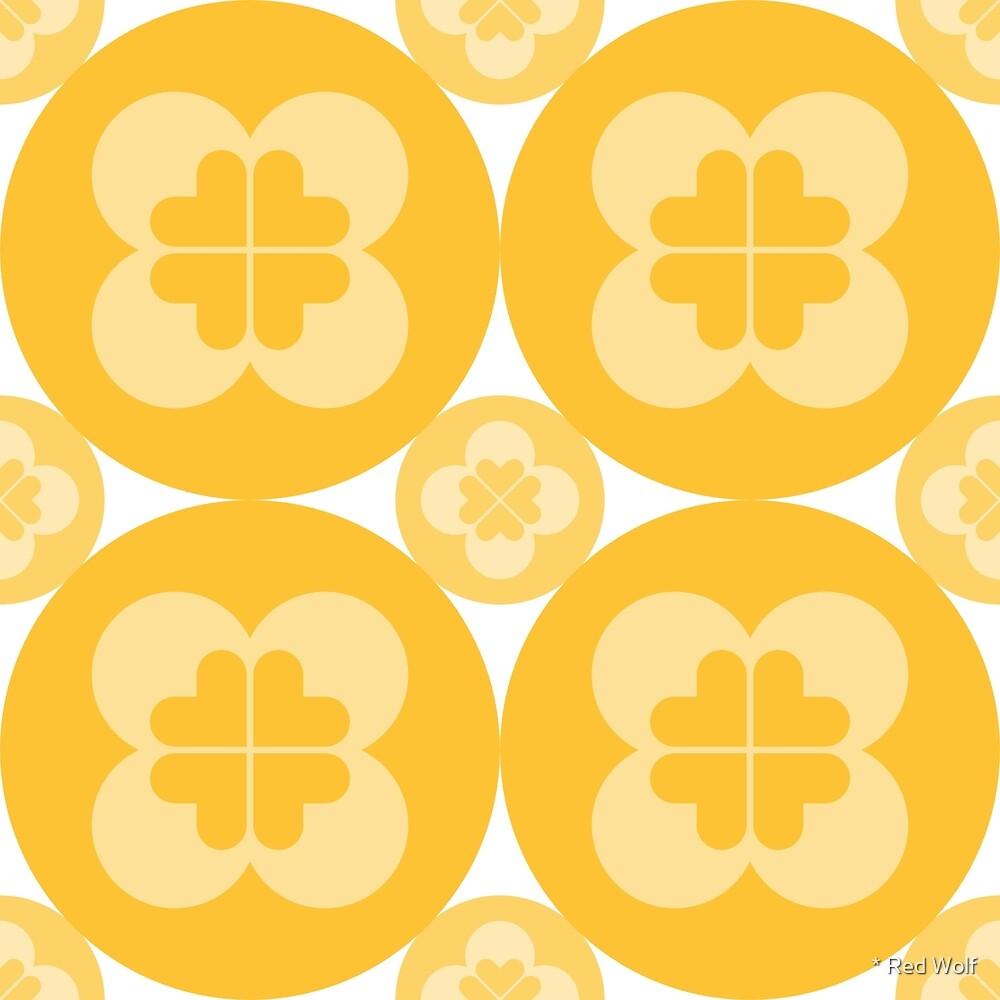 Geometric Pattern: Flower Circle: Yellow Light by * Red Wolf