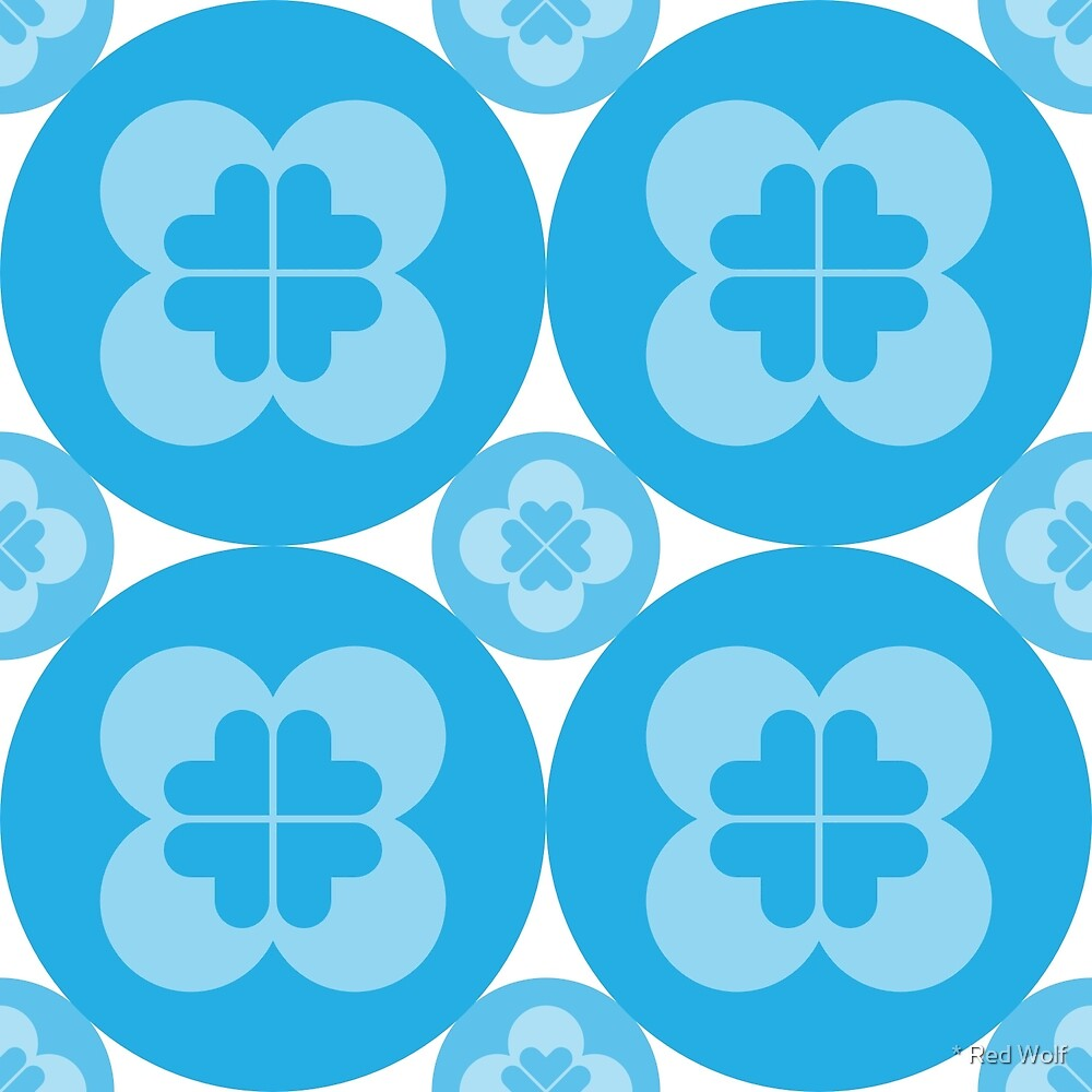 Geometric Pattern: Flower Circle: Blue Light by * Red Wolf