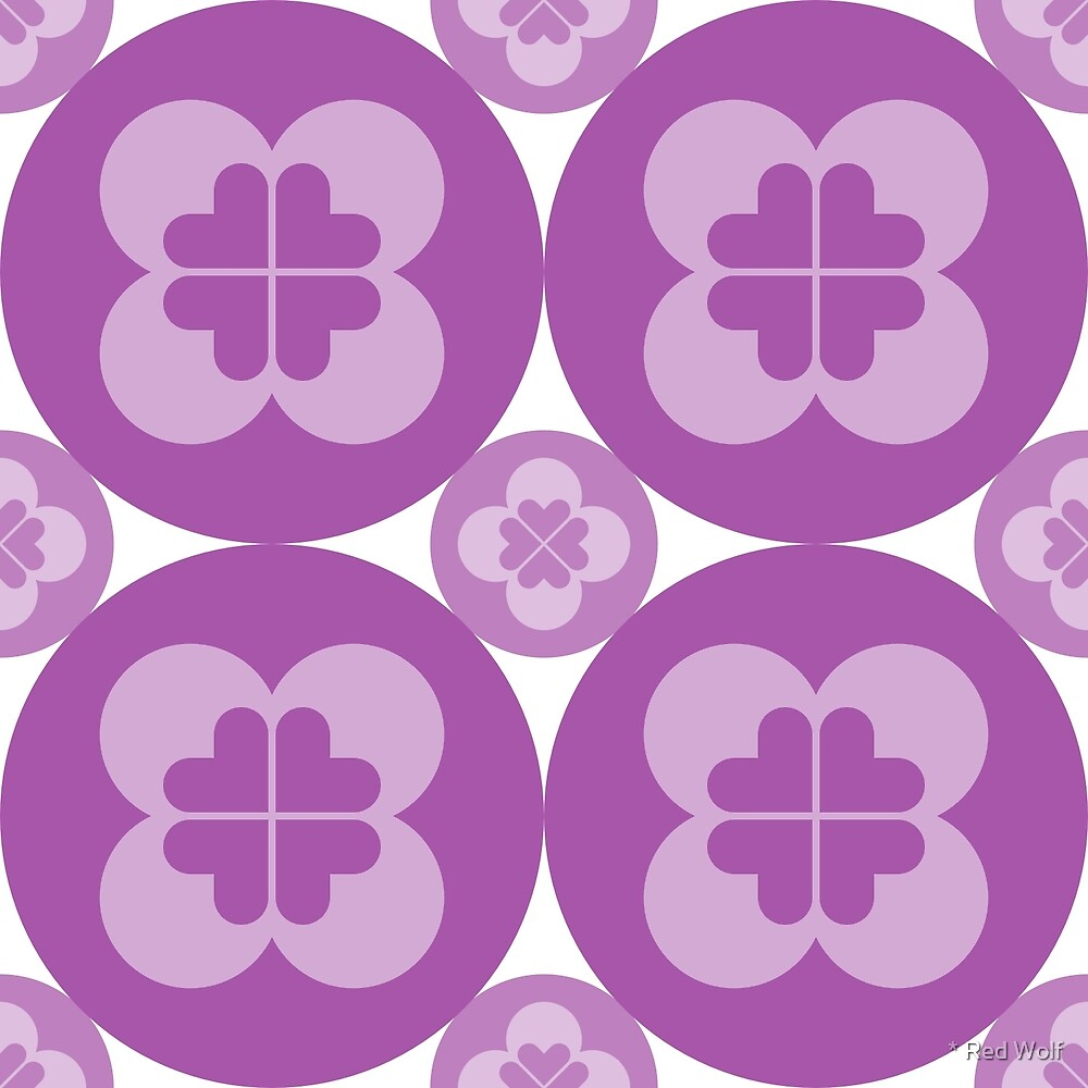 Geometric Pattern: Flower Circle: Purple Light by * Red Wolf