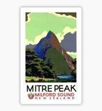 New Zealand Vintage Travel Poster Restored Sticker