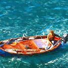Cinque Terre fisherman by Murray Swift