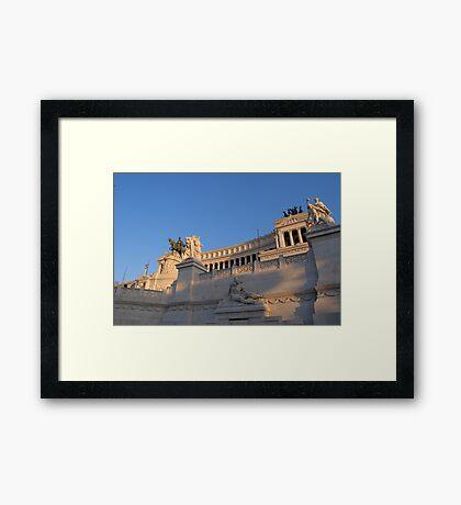 Monument to Vittorio Emanuele - Detail Framed Print