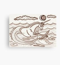 Narwhalicornceros in the Sea Canvas Print