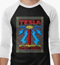 TESLA COIL - INFINITE ENERGY Men's Baseball ¾ T-Shirt
