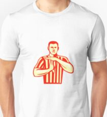 Basketball Referee Technical Foul Retro Unisex T-Shirt