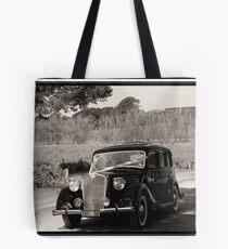 Wedding Car in Sepia Tote Bag