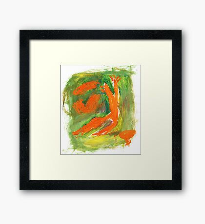 expression of autumn Framed Print