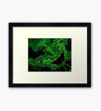 Green Scream Framed Print