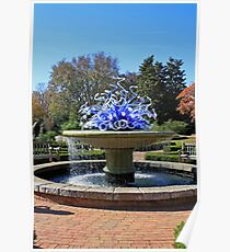 Glass Sculpture in Fountain Poster