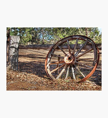 Wagon Wheel In Colour Photographic Print