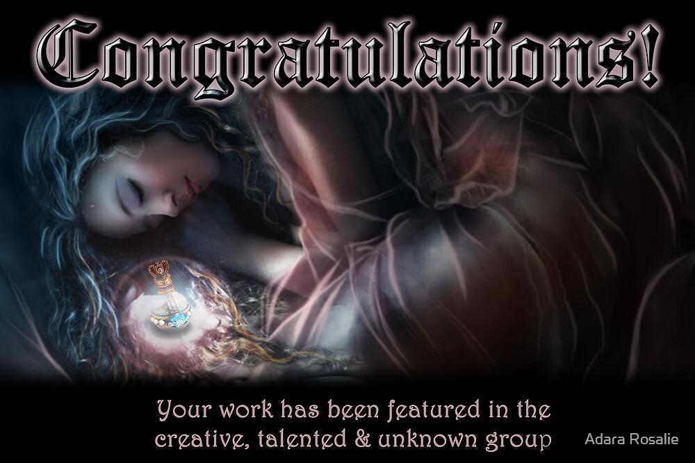 Creative, Talented & Ubknown Banner by Adara Rosalie