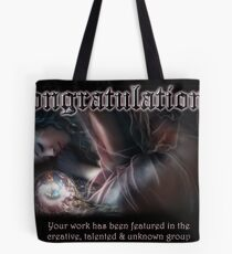 Creative, Talented & Ubknown Banner Tote Bag