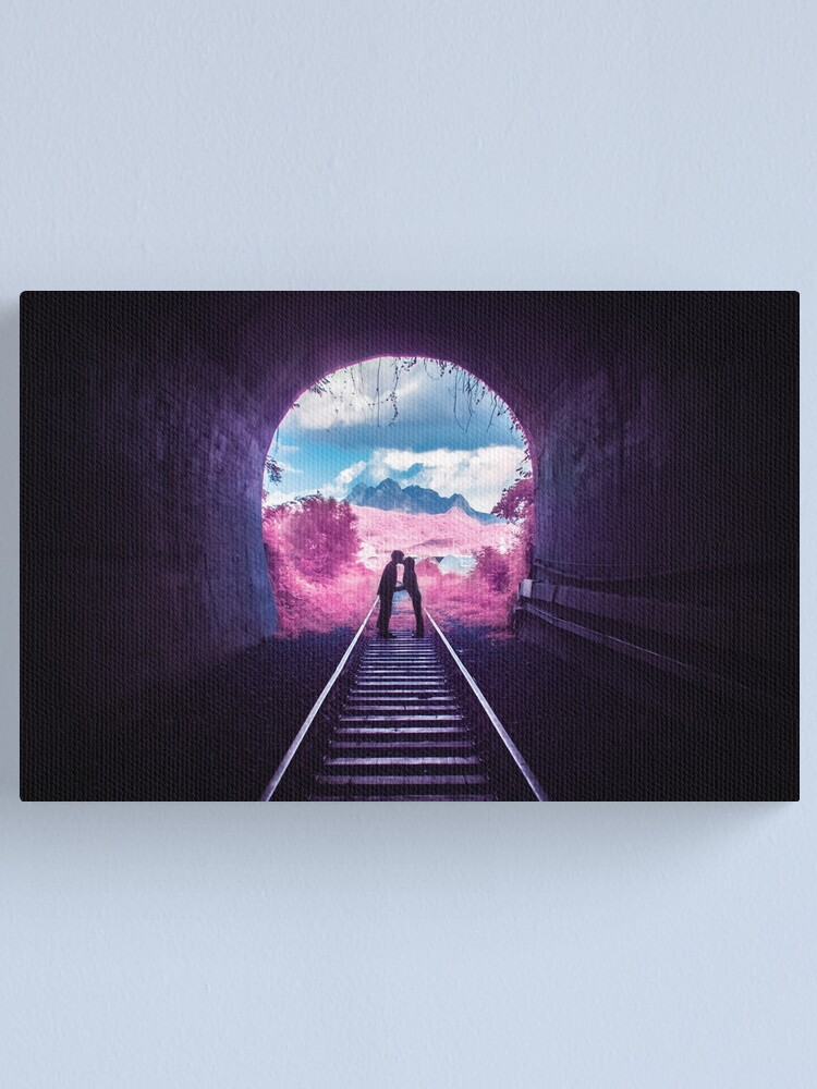 Alternate view of Pink Tunnel Canvas Print