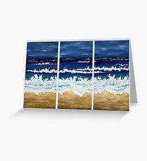 'BEFORE THE STORM' tryptych acrylic textured seascape Greeting Card