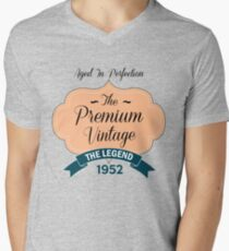 The Premium Vintage 1952 Mens V-Neck T-Shirt